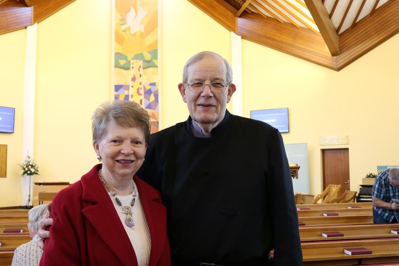 Margaret McVeigh with Charles, her former Vicar