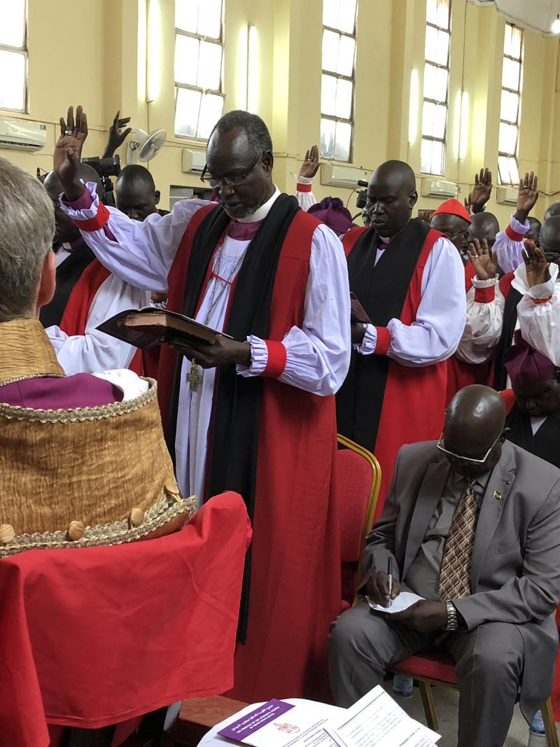 Clergy pledge allegiance to the new Archbishop