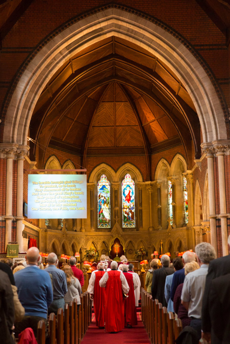 The beginning of the Diocesan Synod Holy Communion Service