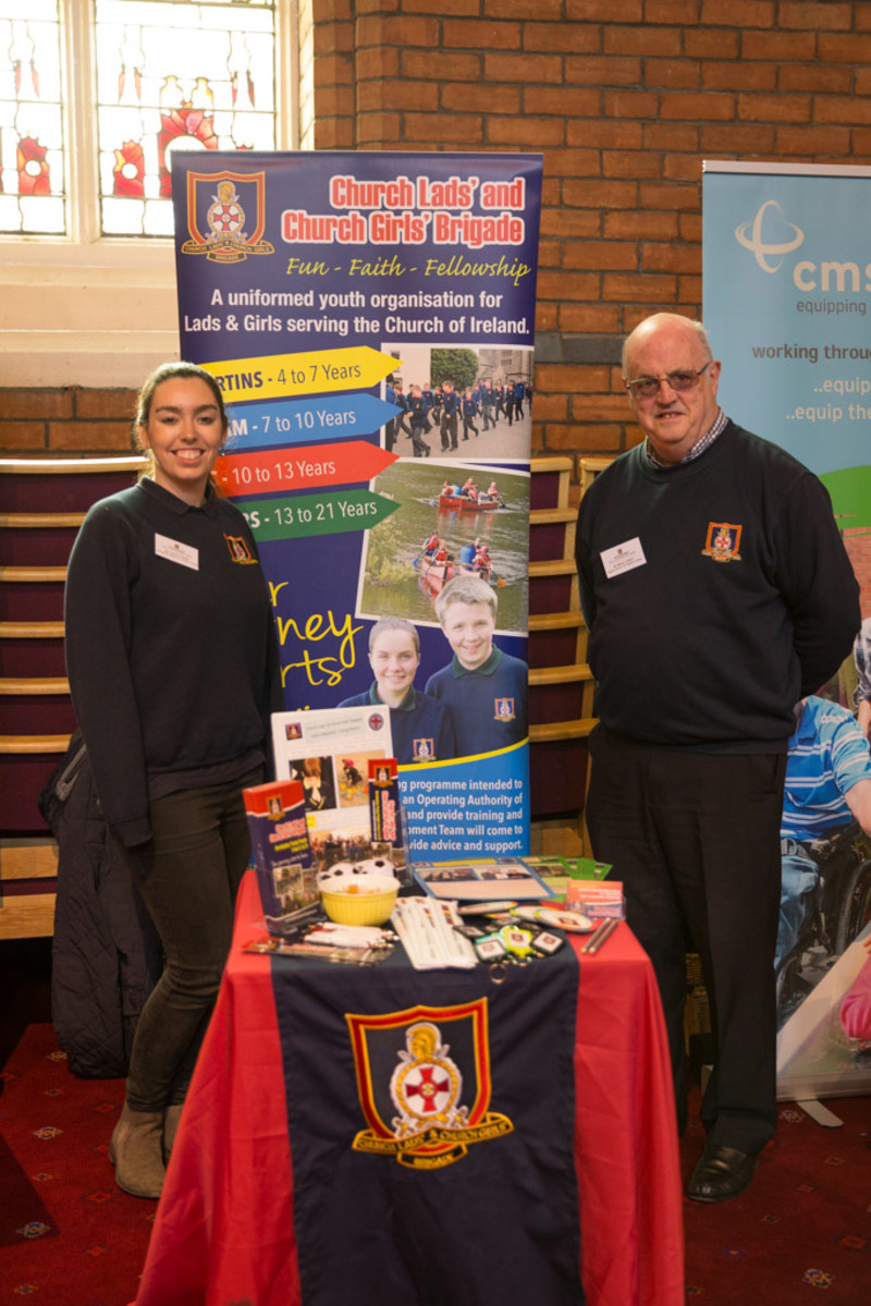 Victoria Jackson and Melvyn Lockhart representing the Church Lads and Church Girls Brigade.