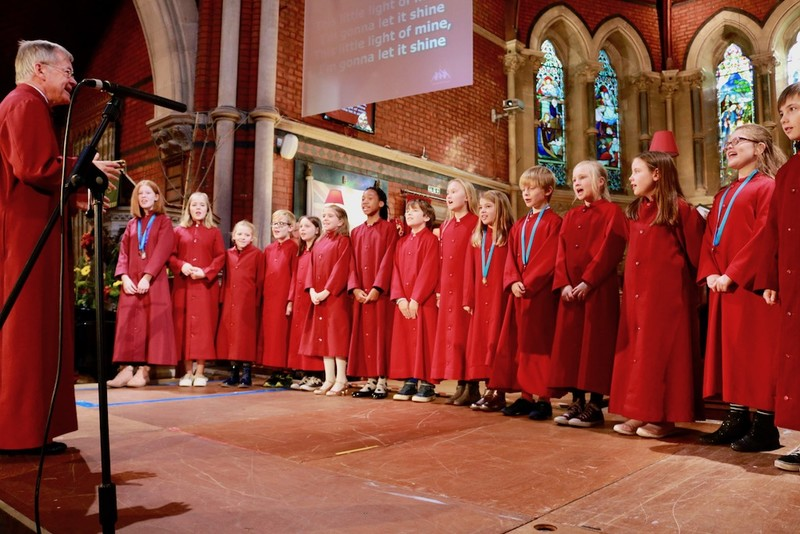 Choristers conducted by Edwin Gray