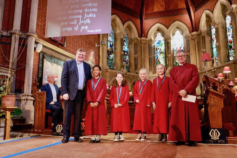Choristers receive their medals