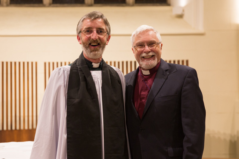 Canon John Auchmuty with Bishop Harold