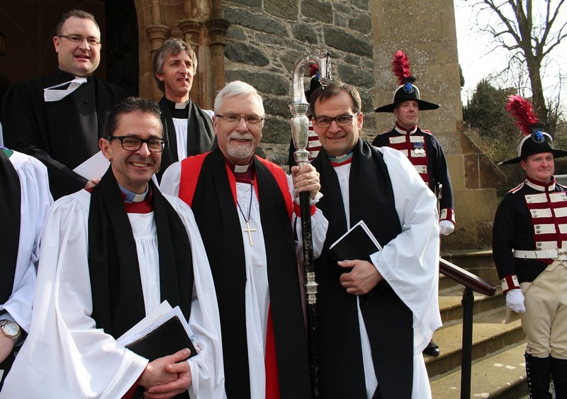 Canon Terence Cadden (preacher) Bishop Harold and Revd Bryan Follis
