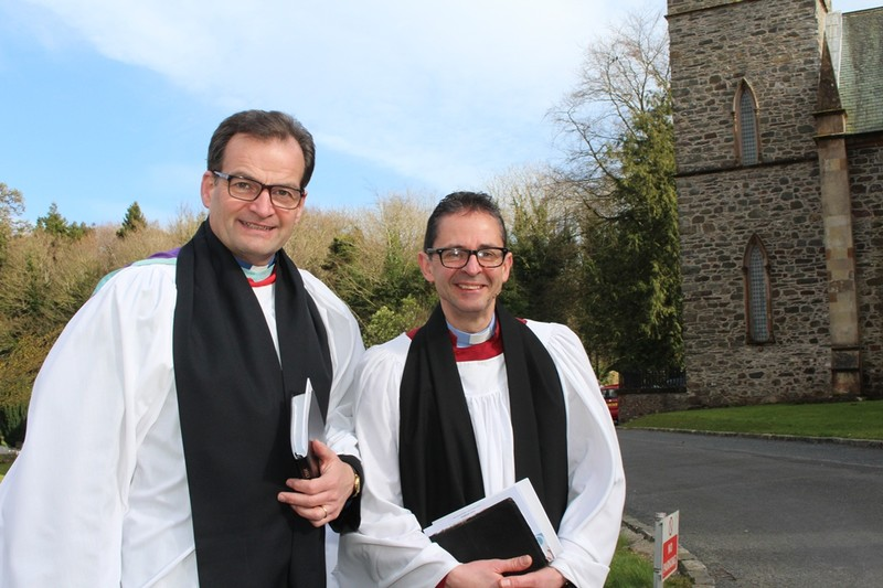 Revd Bryan Follis and Canon Terence Cadden