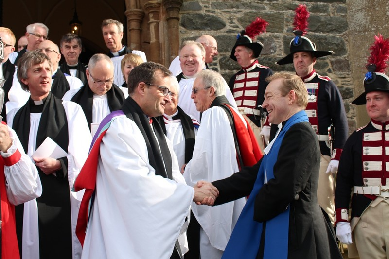 Revd Follis greets a local minister