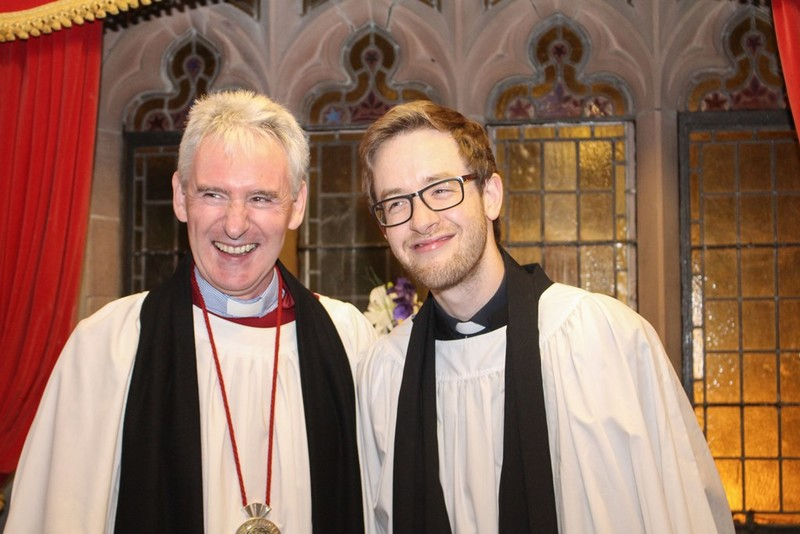 Dean Sam Wright and Revd Simon Genoe