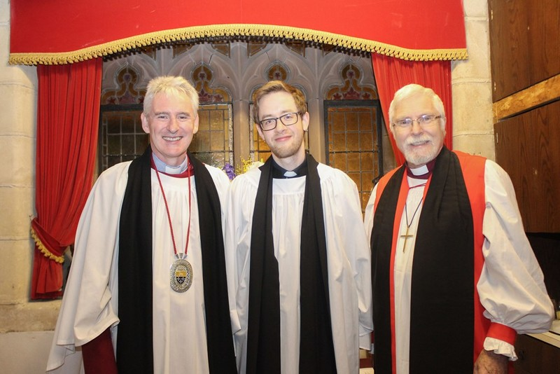 Preacher, Dean Sam Wright, Revd Simon Genoe and Bishop Harold