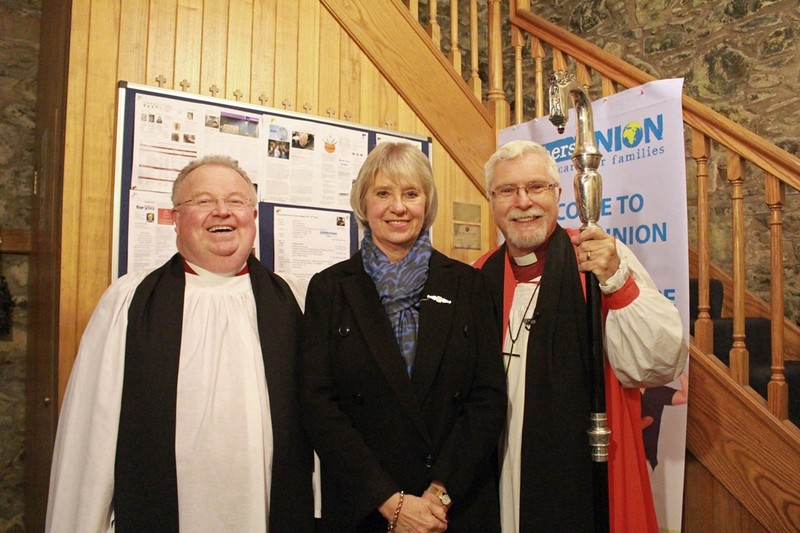 Diocesan Chaplain Canon Robert Howard with June and Bishop Harold