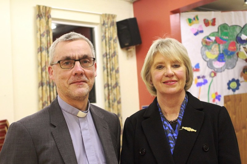 June with her rector Revd Chris Pollock