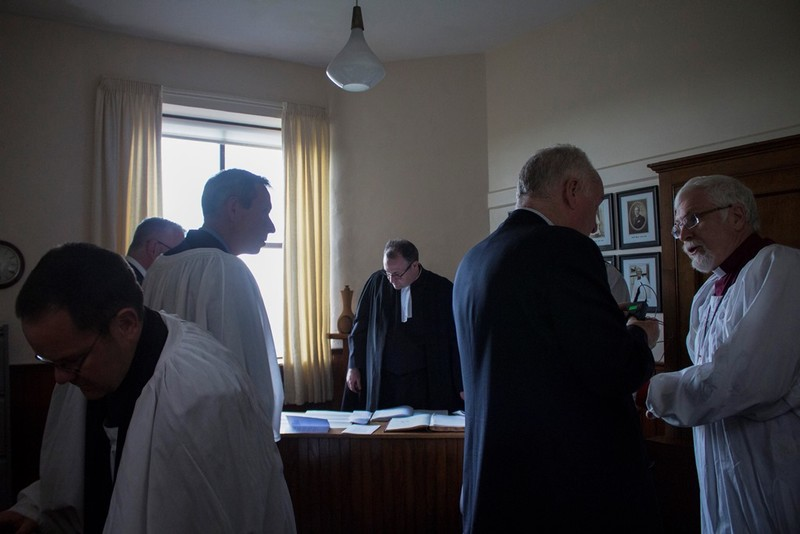 Preparations in the Clergy Vestry