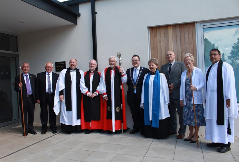 Wardens and clergy, including far right Revd Dr Jacob Thomas