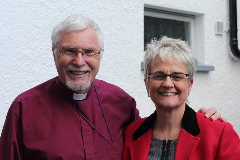Bishop Harold Miller with Margaret Ritchie MP