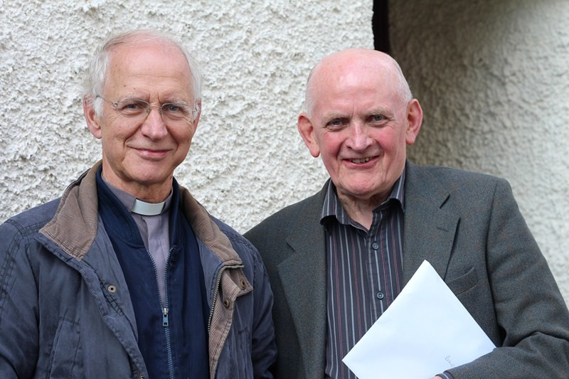 Rector Revd Colin McCormack and Cyril McElhinney CREED