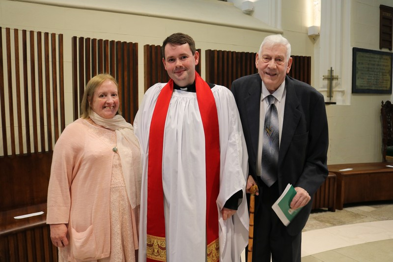 Revd Mark Gallagher and his parents