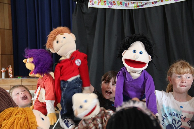 Fun with the puppets
