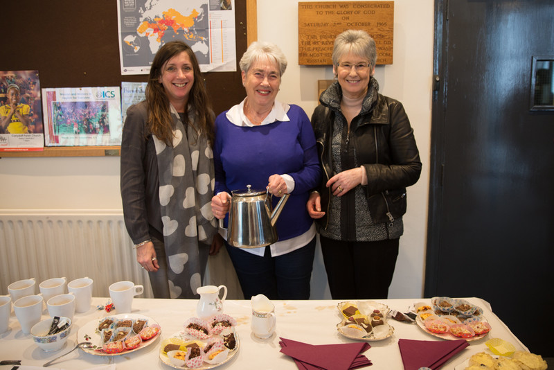 Afternoon tea being served by the Carryduff ladies