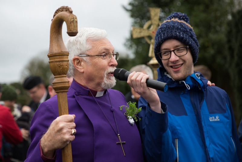 Bishop Harold and Rev Simon Genoe prepare the pilgrims