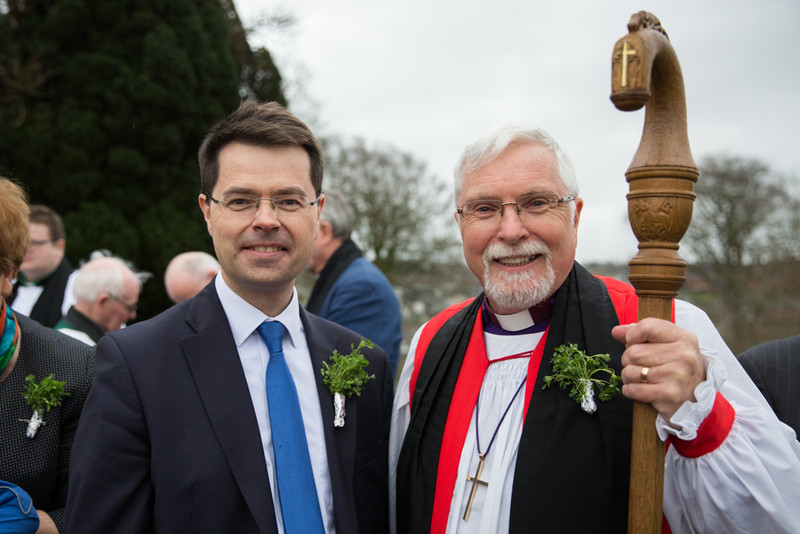 James Brokenshire and Bishop Harold Miller