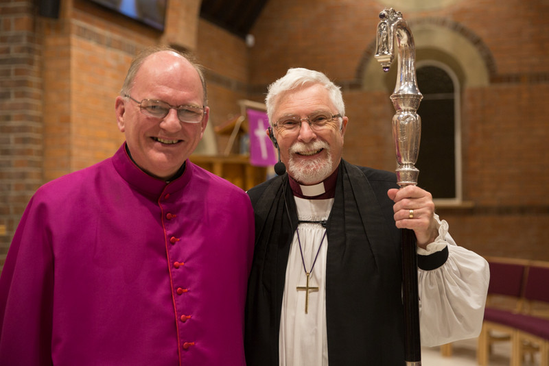 Bishop Noel Treanor with Bishop Harold Miller