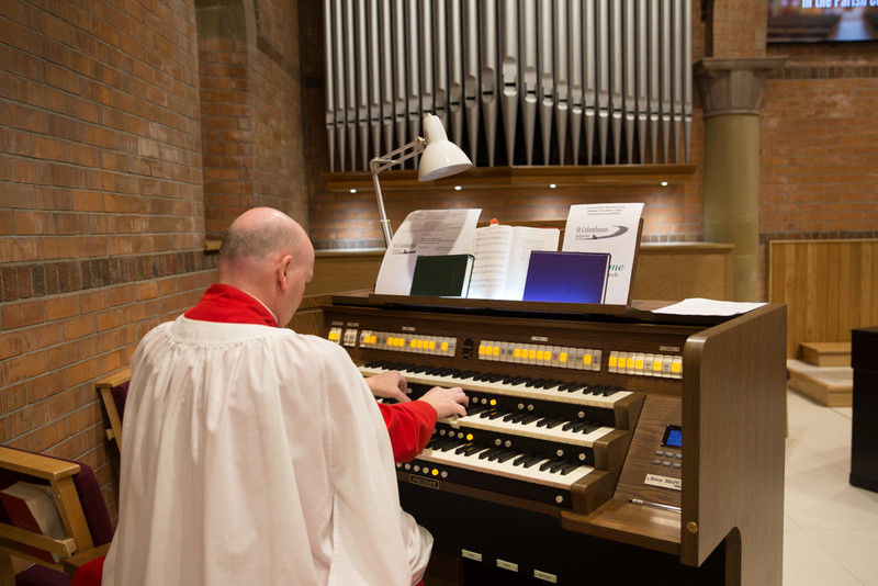 The new church organ