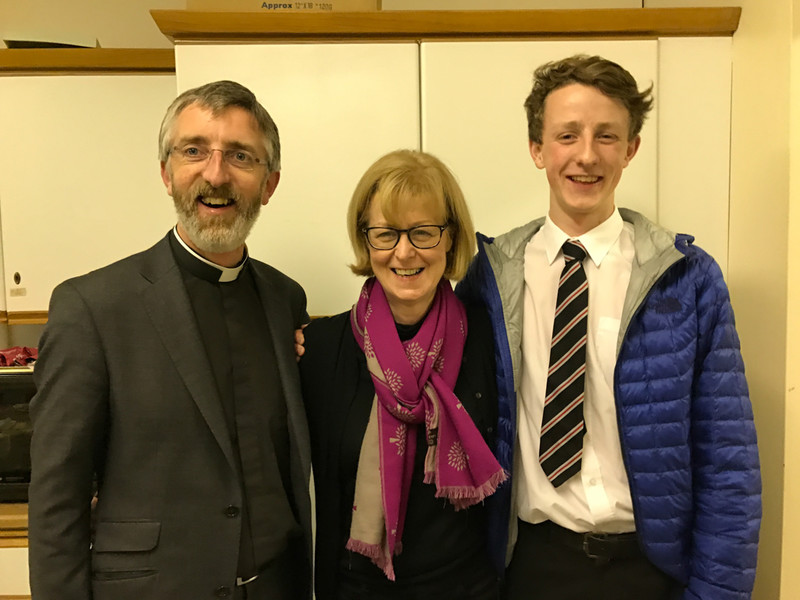 Rev John Auchmuty with his wife Caroline and son Charles